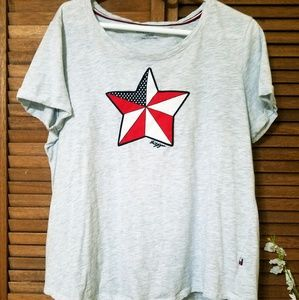 Tommy Hilfiger Short Sleeve Tee With Star Graphic